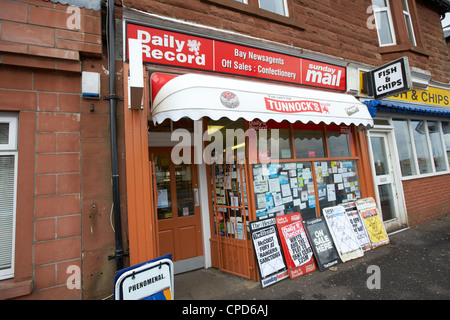 small local scottish newsagent shop in Wemyss Bay Scotland UK - Stock Photo