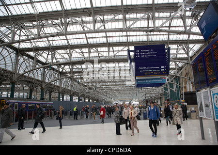 interior of central station Glasgow Scotland UK - Stock Photo