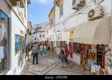 Shops in the old town centre, Albufeira, Algarve, Portugal - Stock Photo