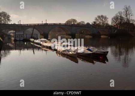 Richmond Bridge on The River Thames,Richmond Upon Thames,Surrey,England - Stock Photo