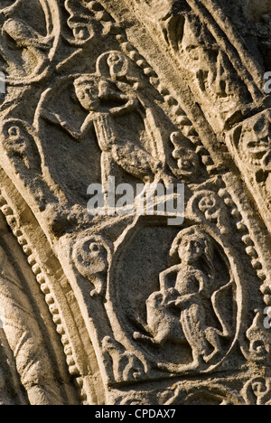 Barfrestone or Barfreston St Nicholas Church Kent uk. HOMER SYKES - Stock Photo