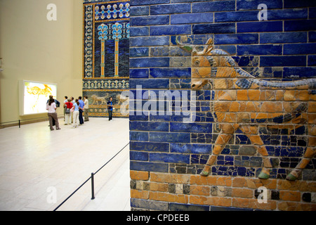 Detail of Ishtar Gate, Pergamon Museum, Berlin, Germany, Europe - Stock Photo