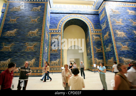 Ishtar Gate, Pergamon Museum, Berlin, Germany, Europe - Stock Photo