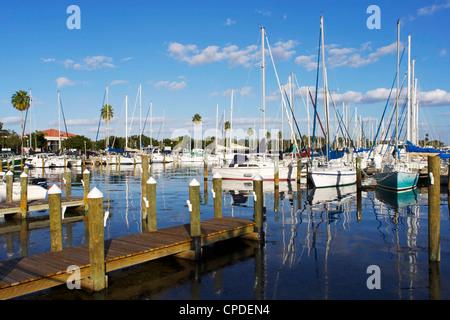 Marina, St. Petersburg, Gulf Coast, Florida, United States of America, North America - Stock Photo