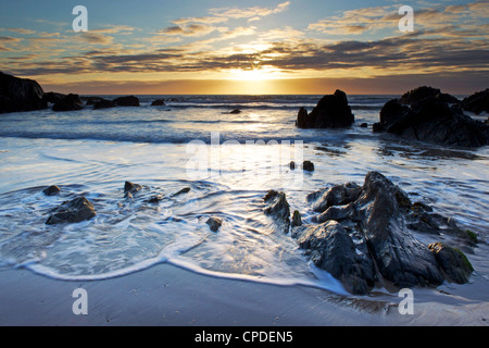 Combesgate Beach, Devon, England, United Kingdom, Europe - Stock Photo