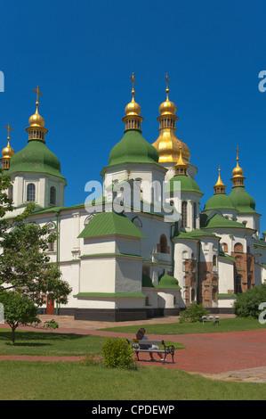 St. Sophia Cathedral Complex, UNESCO World Heritage Site, Kiev, Ukraine, Europe - Stock Photo