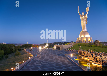 Rodina Mat Statue and The Great Patriotic War Museum, Kiev Ukraine, Europe - Stock Photo