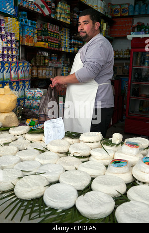 Cheese seller, street market, Medina, Tetouan, UNESCO World Heritage Site, Morocco, North Africa, Africa - Stock Photo