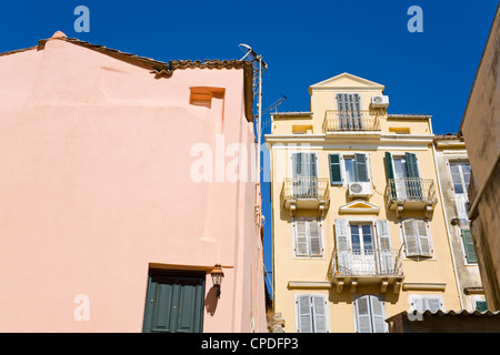 Old Town, Corfu, Ionian Islands, Greek Islands, Greece, Europe - Stock Photo