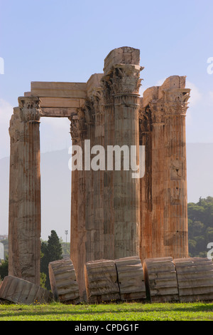 Temple of Olympian Zeus, Athens, Greece, Europe - Stock Photo