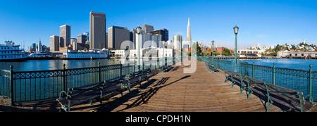 City skyline, Embarcadero, San Francisco, California, United States of America, North America - Stock Photo