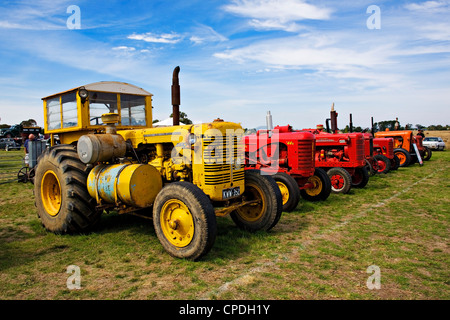 Clunes Australia  /  Older restored tractors are on display at the Historic Vehicle Show. - Stock Photo