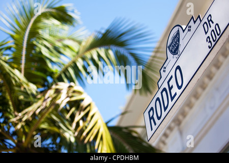 Rodeo Drive, Beverly Hills, Los Angeles, California, United States of America, North America - Stock Photo