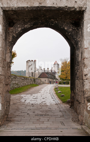 Burghausen Castle, Burghausen, Bavaria, Germany, Europe - Stock Photo