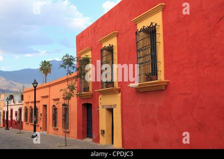 Colonial architecture, Oaxaca City, Oaxaca, Mexico, North America - Stock Photo