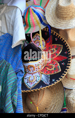 Hats, souvenirs, Puebla, Historic Center, Puebla State, Mexico, North America - Stock Photo
