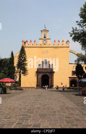 San Bernardino Church, Xochimilco, UNESCO World Heritage Site, Mexico City, Mexico, North America - Stock Photo