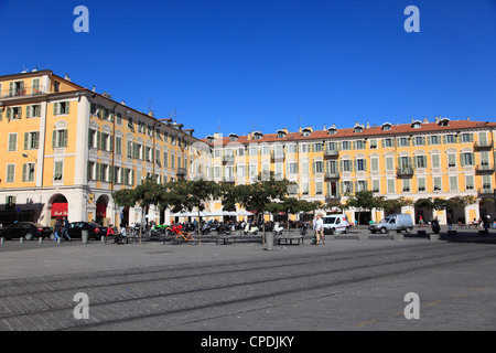 Place Garibaldi, Nice, Alpes Maritimes, Cote d'Azur, French Riviera, Provence, France, Europe - Stock Photo