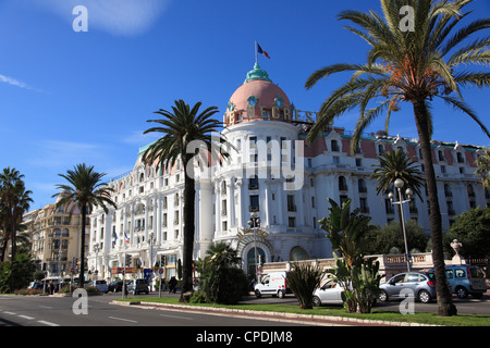 Hotel Negresco, Promenade des Anglais, Nice, Alpes Maritimes, Cote d'Azur, French Riviera, Provence, France, Europe - Stock Photo