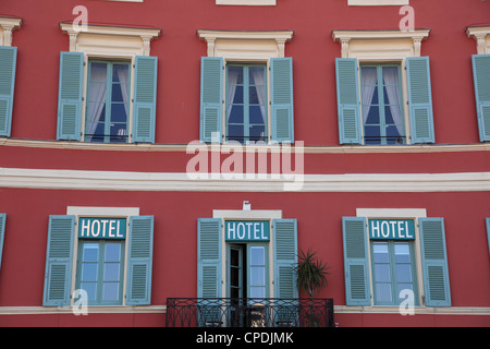 Hotel, Place Massena, Nice, Alpes Maritimes, Cote d'Azur, French Riviera, Provence, France, Europe - Stock Photo