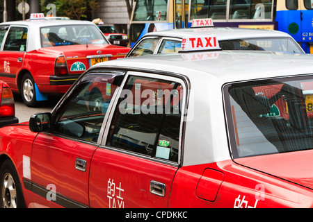 Taxis, Hong Kong, China, Asia - Stock Photo