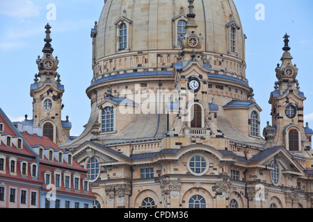 Frauenkirche in Dresden, Saxony, Germany, Europe - Stock Photo