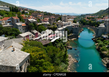 Mostar, UNESCO World Heritage Site, municipality of Mostar, Bosnia and Herzegovina, Europe - Stock Photo
