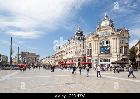 The Place de la Comedie, Montpellier, Languedoc-Roussillon, France, Europe - Stock Photo