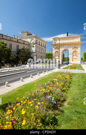The Arc de Triomphe, Rue Foch, Montpellier, Languedoc-Roussilon, France, Europe - Stock Photo