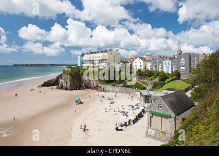 South Beach, Tenby, Pembrokeshire, Wales, United Kingdom, Europe - Stock Photo