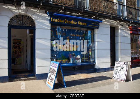London, the Beatles store in Baker street - Stock Photo