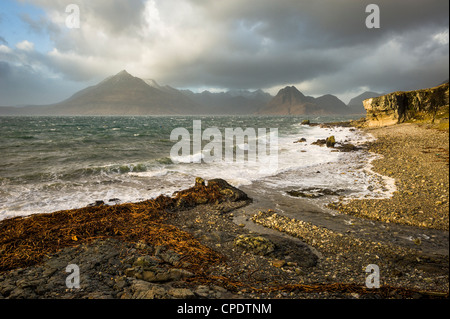 Elgol and the Cuillin, Isle of Skye, Inner Hebrides, Highlands, Scotland, UK - Stock Photo