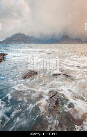 Elgol and the Cuillin at sunrise, Isle of Skye, Inner Hebrides, Highlands, Scotland, UK - Stock Photo