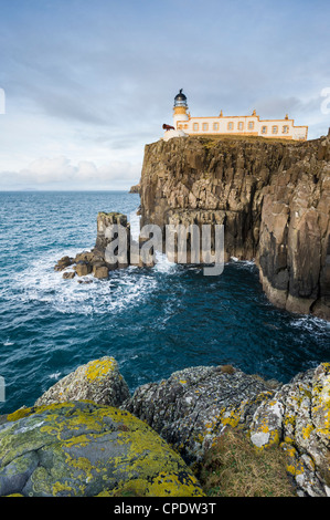 Neist Point lighthouse, Isle of Skye, Scotland, UK - Stock Photo
