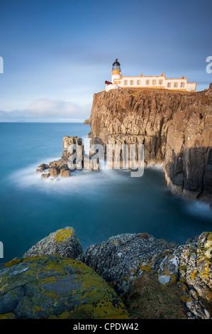 Neist Point lighthouse, Isle of Skye, Scotland, UK - Stock Photo