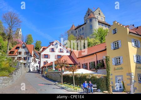 Meersburg; Castle, Lake Constance, Baden-Wurttemberg, Germany, - Stock Photo