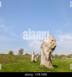 Part of the stone circle at Avebury Great Henge. - Stock Photo