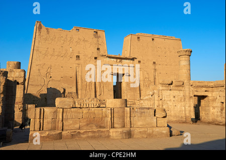 Pylon, Temple of Horus, Edfu, Egypt, North Africa, Africa - Stock Photo