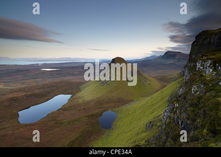 A view southwards along the Trotternish Peninsula from the mountain Bioda Buidhe, Isle of Skye, Inner Hebrides, - Stock Photo