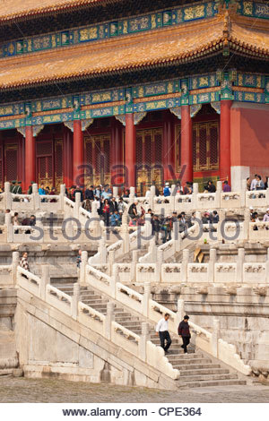 Gate of Heavenly Purity, UNESCO World Heritage Site, Forbidden City, Beijing, China, Asia - Stock Photo