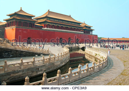 River of Gold, Forbidden City, Beijing, China, Asia - Stock Photo
