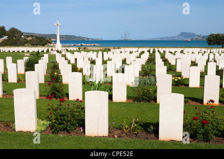 Allied War Cemetery, Soudha Bay, Akrotiri Peninsula, Chania region, Crete, Greek Islands, Greece, Europe - Stock Photo