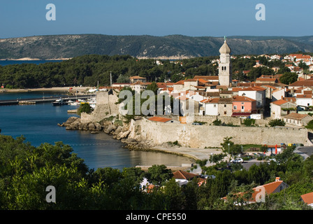 Krk Town, Krk Island, Kvarner Gulf, Croatia, Adriatic, Europe - Stock Photo