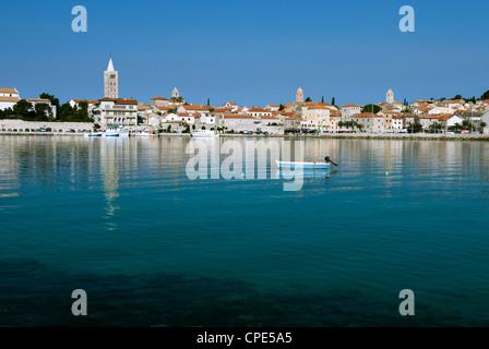 Rab Town, Rab Island, Kvarner Gulf, Croatia, Adriatic, Europe - Stock Photo