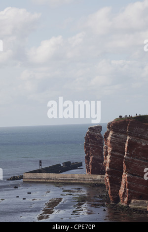 Cliff-tops of Helgoland with 'Lange Anna', Germany, North Sea - Stock Photo