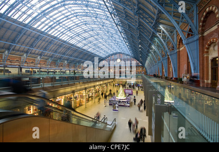 St. Pancras Station, London, England, United Kingdom, Europe - Stock Photo