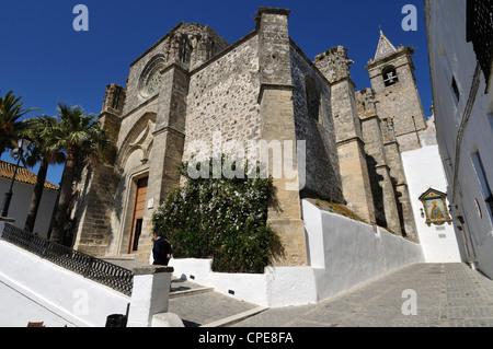Church of Divino Salvador, Vejer de la Frontera, Cadiz Province, Costa de la Luz, Andalusia, Spain, Europe - Stock Photo