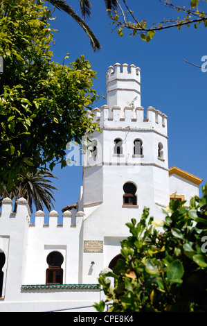 Public Library, Plaza de Santa Maria, Tarifa, Cadiz Province, Andalusia, Spain - Stock Photo