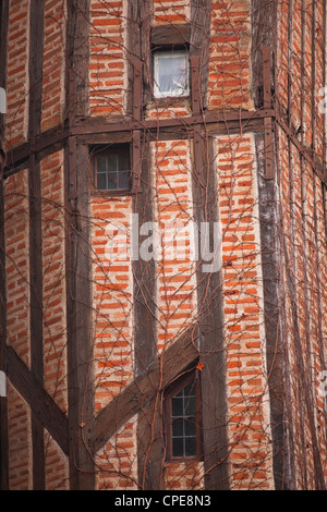 Wood beamed house, Tours, Indre-et-Loire, France, Europe - Stock Photo