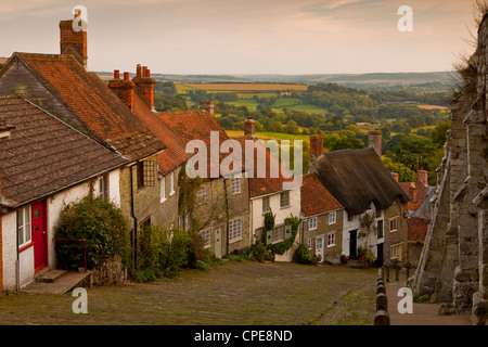 Gold Hill, Shaftesbury, Dorset, England, United Kingdom, Europe - Stock Photo
